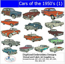 Embroidery Design Set - Cars of the 50's(1) - 15 Designs - 9 Formats - USB Stick