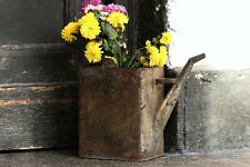 Old Large Rusty Metal Water Can Vintage Container Rustic Farmhouse Garden Decor