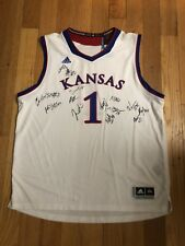 2017-2018 KANSAS JAYHAWKS TEAM JERSEY HAND SIGNED AUTHENTIC AUTOGRAPH COA