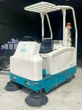 More details for tennant 6200 battery powered ride on floor sweeper warehouse racking unit floor