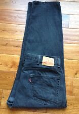 Levis 550 Relaxed Fit Black DISTRESSED / BROKEN IN Mens Jeans 42x32 ACTUAL 42x30