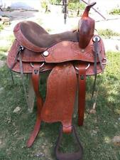 new western brown leather saddle size 15 inch