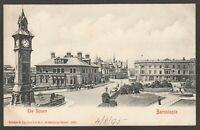 Postcard Barnstaple Devon clock tower in The Square posted 1905 Stengel
