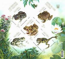 Frog Stamps Ukraine Amphibians Toad Fauna Nature Animals Souvenir Block 2012 MNH