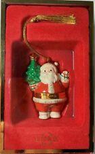 Lenox Ornament Santa with Tree Hinged Trinket Box Treasures Collection 2002