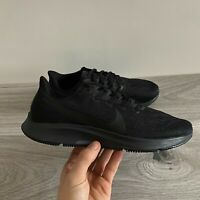 NIKE MENS AIR ZOOM PEGASUS 36 - UK 6, 7, 7.5, 8 & 13 - TRIPLE BLACK (AQ2203-006)