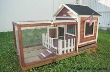 Outdoor Indoor Rabbit Cage Hutch Pet Lodge Bunny Wire Fence Small Hutches Cages