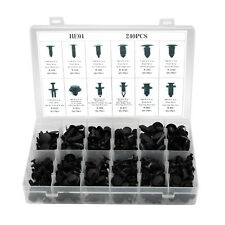 240pcs Car Body Retainer Push Type Pin Rivet Trim Clip Panel Moulding Fastener