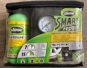 SLIME SMART REPAIR AIR COMPRESSOR TYRE PUMP INFLATOR WITH TIRE REPAIR SEALANT