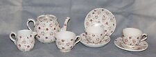 Hollinshead & Kirkham Pottery Brown Calico Transfer Printed Child's Tea Set