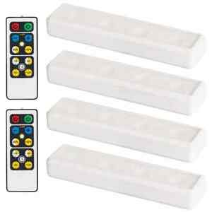 Brilliant Evolution Wireless LED Under Cabinet Light 4 Pack with 2 Remotes