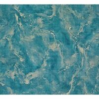Marble Vinyl Blue gold metallic faux fabric texture Wallpaper textured M5645 3D
