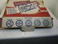 Vtg Mouli Salad Maker in Original Box with Manual and 5 Discs.no instuction book