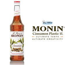 MONIN Coffee Syrups - CINNAMON - 1L Plastic Bottle - USED BY COSTA COFFEE