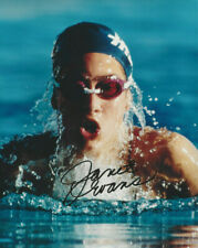 USA Olympic swimmer Gold medalist Janet Evans  autographed action color photo