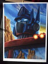 Jason Edmiston Optimus Prime Poster Transformers Mondo 80s Autobot Autobots