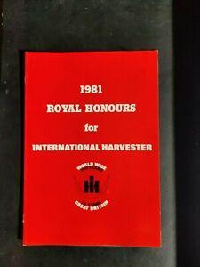 INTERNATIONAL HARVESTER TRACTORS 1981 ROYAL HONOURS COLOUR FARMING BROCHURE VGC