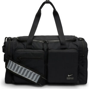 Nike Utility Power Training Duffel Bag Unisex Black Medium Size 51 Litres Sports