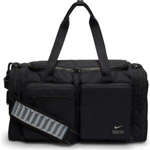 Nike Utility Power Training Duffel Bag Unisex Black Medium Size 51 Litres Sports