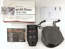 Canon EF 24-70mm F/2.8 L Series USM Lens Great Condition With Case And Box