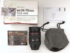 Canon EF 24-70 mm F/2.8 USM Lente muy buen estado L Series Con Estuche Y Caja