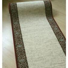 Edler Teppich Läufer *MADRAS SUPER* hellbeige/rot 80 cm breit gewebt
