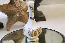 """Aynsley Cottage Garden Vase Bulbous Squared Bottom Fluted Sides 7 1/8"""" T"""