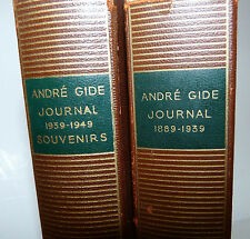 André Gide: Journal 1889 - 1939 - 1949 Souvenirs 2 voll. 1951 Pleiade ex libris