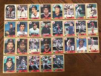 1987 CLEVELAND INDIANS Topps COMPLETE Baseball Team SET 29 Cards CARTER FRANCO!