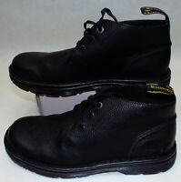 New Mens 11 Dr Martens AW004 Sussex Non Slip Black Leather Shoes