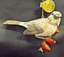 "The Danbury Mint Christmas The Song Bird Ornament ""Song Sparrow"" Figure Euc"
