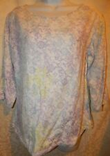 Top Woolrich Pullover shirt S Cotton White Purple Blue Yellow Floral print ST7