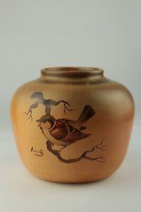 Vintage Studio Art Pottery Vase Signed Hand Painted Arnaldo Collectable SKU18057