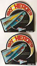 TWO MARX 1977 SKY HEROES SUPERMAN & SPIDERMAN KITES DC COMICS - UNOPENED