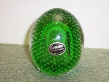 ART GLASS KANAWHA WV PAPERWEIGHT Controlled Bubbles