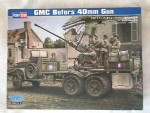 HobbyBoss 1/35 GMC Bofors 40mm Gun plastic model kit 82459