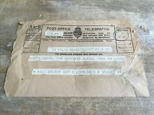 Vintage POST OFFICE TELEGRAPH Social History Distressed Salvage LEEDS April 1931