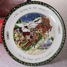 Portmeiron Studios Susan Winget A Christmas Story Footed Cake Plate IOB! EUC!