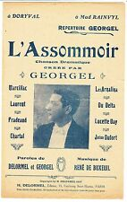 PARTITION ANCIENNE L ASSOMMOIR  GEORGEL