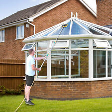 10FT Water Fed Telescopic Window Cleaning Pole Conservatory Roof Cleaner Brush
