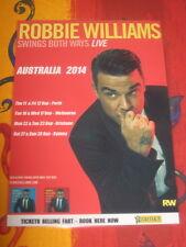 ROBBIE WILLIAMS - 2014  SWINGS BOTH WAYS AUSTRALIAN  TOUR  -  PROMO TOUR POSTER