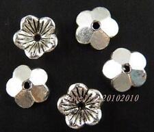 300pcs Tibetan Silver Nice Flower Bead Caps 10x3mm 11718