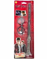 Harry Potter Glasses Magic Wand Costume Kit Children Adult Halloween Accessory