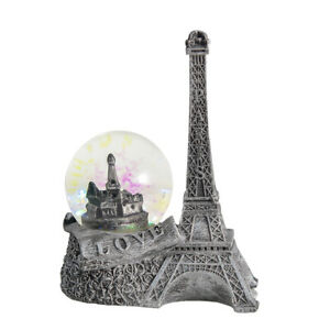 Silver Paris Snow Globe The Eiffel Tower Water Glass Ball Valentine's Day Gift