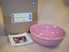 Longaberger Cereal Bowl Pink - Hard To Find In Mint Condition!