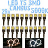 N° 20 LED T5 5000K CANBUS SMD 5050 Lumières Angel Eyes DEPO BMW Serie 7 E38 1D2