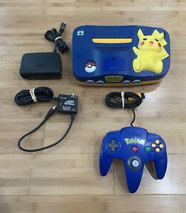 Nintendo 64 N64 Pikachu Edition NUS-101 Console Bundle w/ Pokémon Controller USA