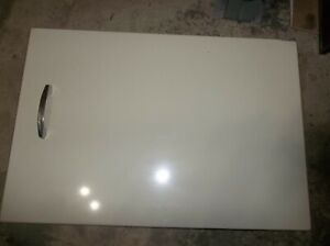 GE GAS DRYER COMPLETE DOOR ASSEMBLY ALMOND WE10X10262   FROM MODEL DDG7280RCLAD