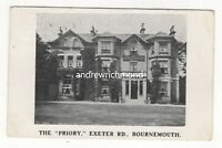 Bournemouth The Priory Exeter Road 1910 Postcard 177c