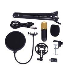 Profi -800 USB Kondensator Mikrofon Set Mikrofonarm Ständer Mit Popschutz NEU
